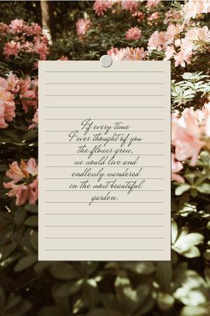 Plantilla de diseño de Love Quote with floral Garden Pinterest