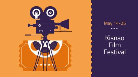 Plantilla de diseño de Film Festival Announcement with Movie Projector FB event cover