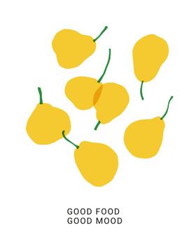 Falling Yellow Pears