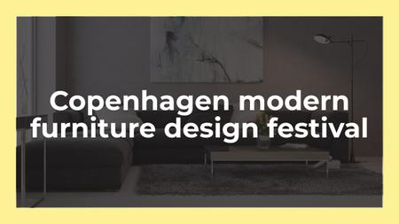 Furniture Design Festival Announcement with Sofa in Grey Youtube Modelo de Design