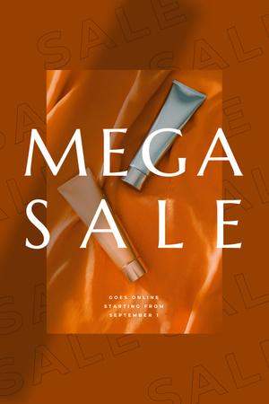 Beauty Sale with cosmetics Pinterestデザインテンプレート