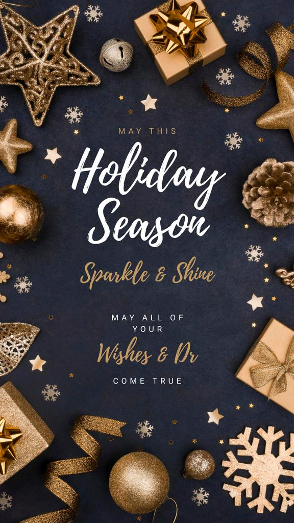 Greeting with Shiny Christmas decorations — Create a Design