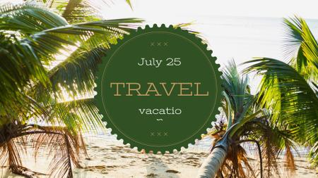 Template di design Summer Trip Offer Tropical Palm Trees FB event cover