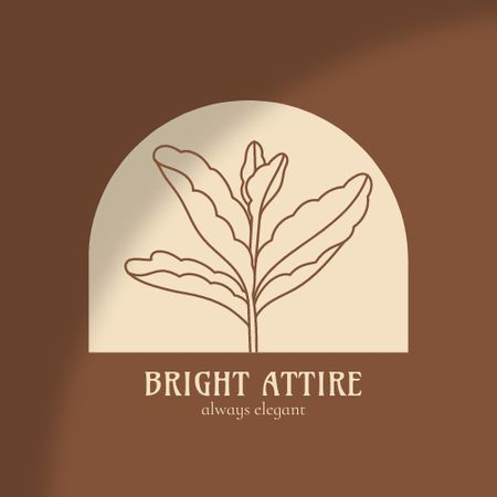 Fashion Ad with Flower Leaves Illustration Logo – шаблон для дизайну
