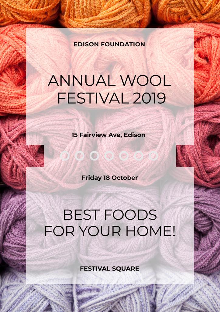 Annual wool Festival Poster – шаблон для дизайну