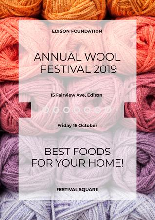Template di design Annual wool Festival Poster
