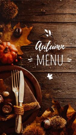 Modèle de visuel Autumn Menu Offer with Pumpkin - Instagram Story