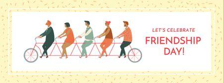 Plantilla de diseño de Friendship day greeting card Facebook cover