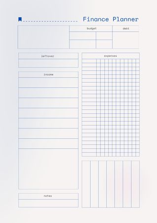 Ontwerpsjabloon van Schedule Planner van Budget Finance Planner