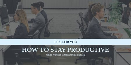 Designvorlage Productivity Tips Colleagues Working in Office für Image