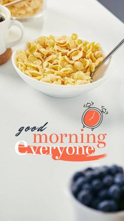 Breakfast with Fresh Cereals Instagram Story – шаблон для дизайна