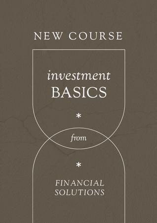 Finances and Investment Course promotion Poster – шаблон для дизайну