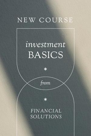 Finances and Investment Course promotion Pinterest Modelo de Design