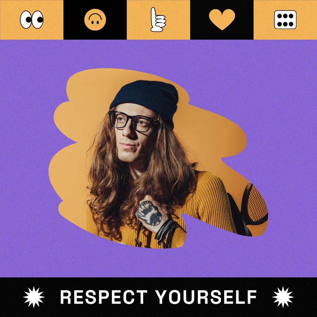 Manhood inspiration with Attractive Feminine Guy Instagram Modelo de Design