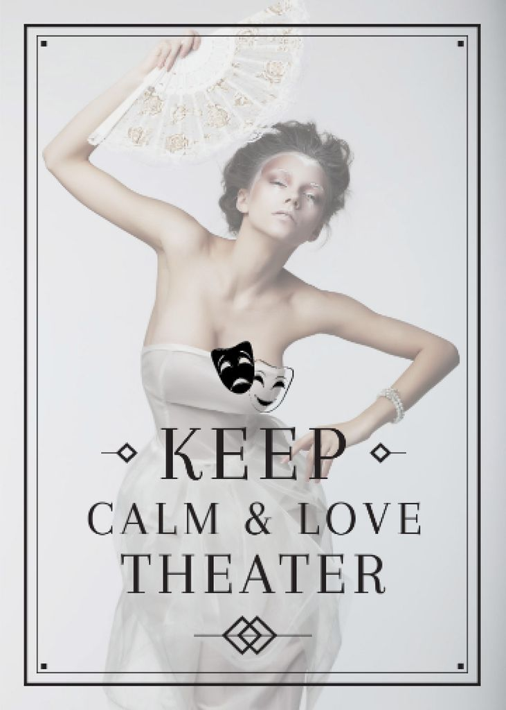 Theater Quote Woman Performing in White — Crear un diseño