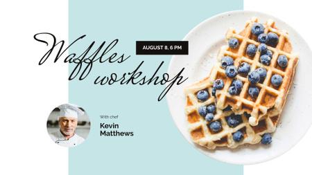 Workshop Ad with Tasty Waffle FB event cover – шаблон для дизайна