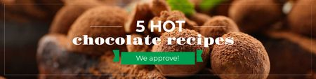Hot Chocolate recipes Ad Twitter Modelo de Design