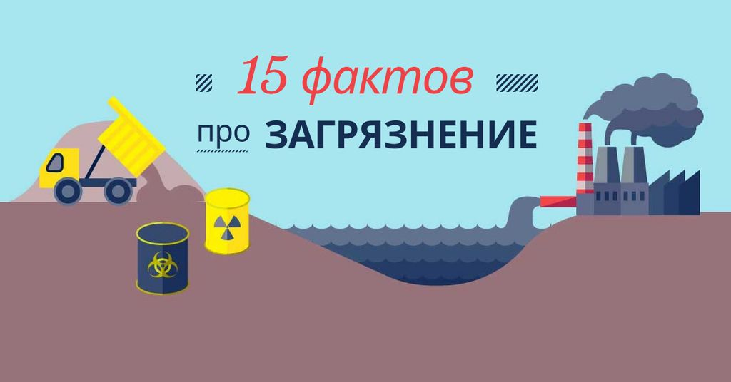 Facts about pollution Facebook AD – шаблон для дизайна