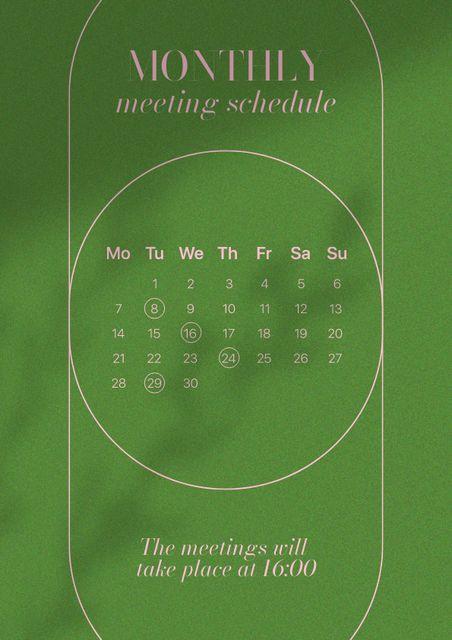 Monthly Meetings Schedule Schedule Planner – шаблон для дизайна