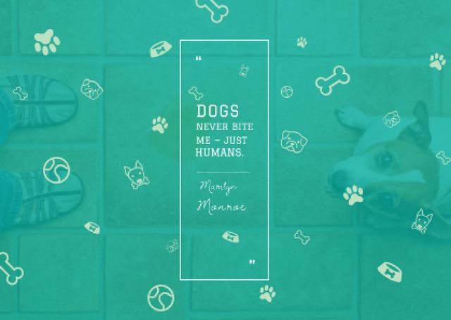 Citation about good dogs Postcard Design Template