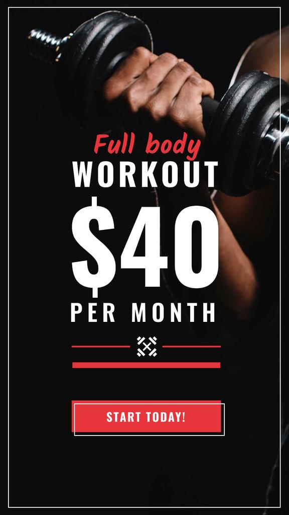 Workout Offer Man with dumbbell — Créer un visuel
