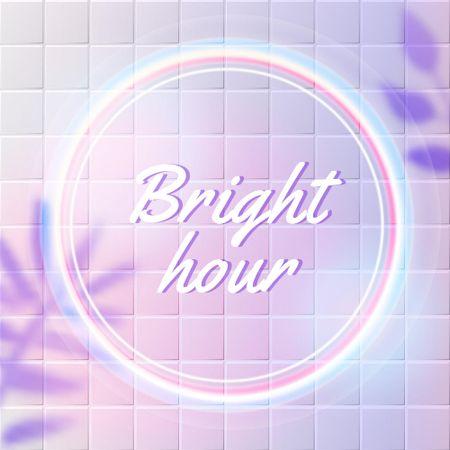 Bright Neon Pink Circle Logo – шаблон для дизайну