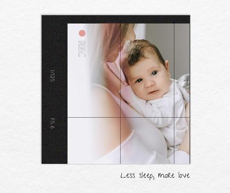 Modèle de visuel Mother holding Little Cute Baby - Facebook