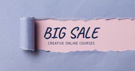 Creative Online Courses Offer Facebook AD Modelo de Design