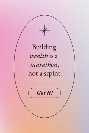 Plantilla de diseño de Wealth Inspirational Quote Pinterest