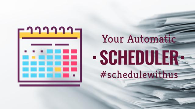 Schedule calendar icon Full HD video Tasarım Şablonu