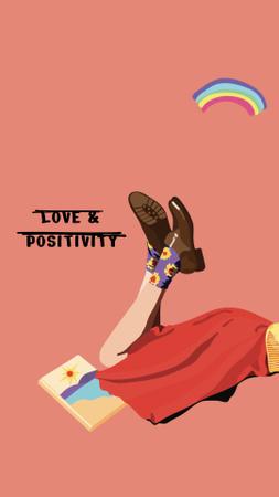 Plantilla de diseño de love and positivity Instagram Story