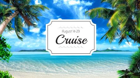 Plantilla de diseño de Summer Trip Offer Palm Trees by Sea FB event cover
