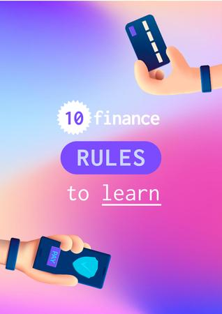 Finance Rules with Banking application Poster Design Template
