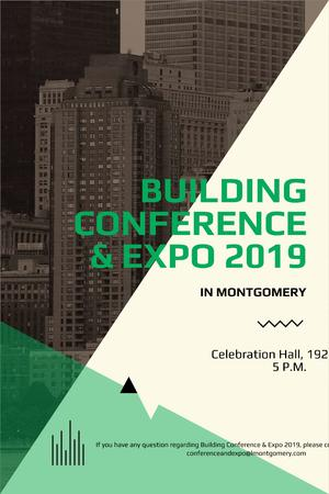Building conference Announcement Pinterest Modelo de Design