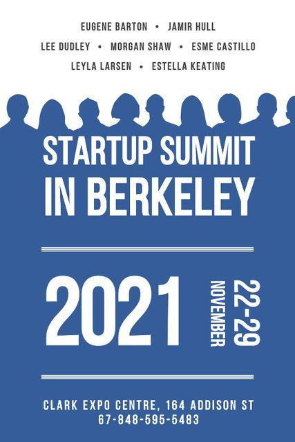 Modèle de visuel Startup Summit Announcement Businesspeople Silhouettes - Tumblr