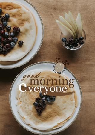 Designvorlage Breakfast with Fresh Cereals für Poster