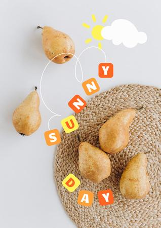 Szablon projektu Summer Inspiration with Fresh Pears Poster