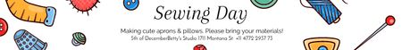 Plantilla de diseño de Sewing day event  Leaderboard