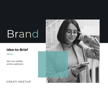 Branding Agency worker with phone