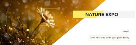 Plantilla de diseño de Nature Expo Announcement Blooming Daisy Flower Twitter