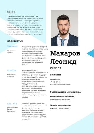 Professional Lawyer profile and experience Resume – шаблон для дизайна