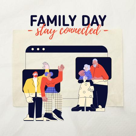 Plantilla de diseño de Family Day Inspiration with Parents and Adult Children Instagram