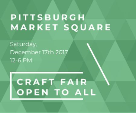 Craft fair in Pittsburgh Medium Rectangle Design Template