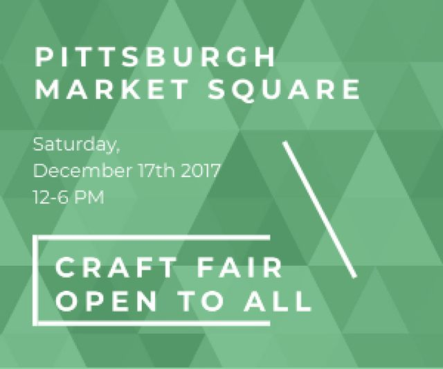 Craft fair in Pittsburgh Medium Rectangle – шаблон для дизайну