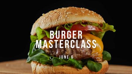 Modèle de visuel Cooking Masterclass with Tasty Burger - FB event cover