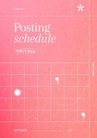 Blog Posting Planning Schedule Planner – шаблон для дизайна