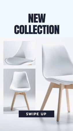Furniture Store Offer with white minimalistic Chair Instagram Story Modelo de Design