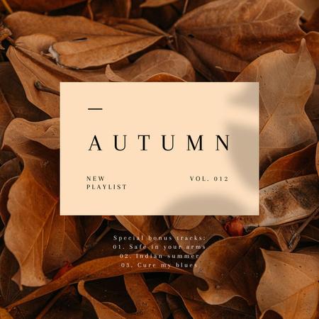 Autumn Mood with dry Leaves Instagram Πρότυπο σχεδίασης