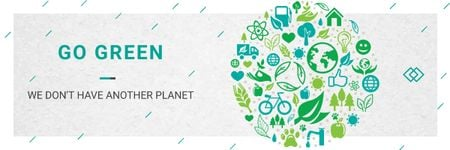 Plantilla de diseño de Citation about green planet Email header