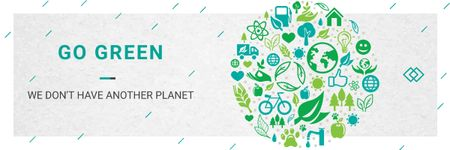 Modèle de visuel Citation about green planet - Email header